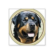 "Unique Rotties Square Sticker 3"" x 3"""