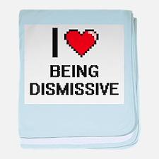 I Love Being Dismissive Digitial Desi baby blanket
