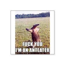 """Cute Anteater Square Sticker 3"""" x 3"""""""