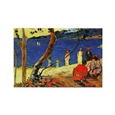 Gauguin - A Seashore Rectangle Magnet
