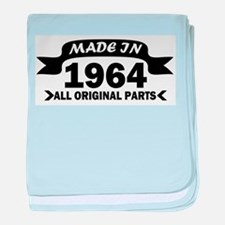 made in 1964 born baby blanket