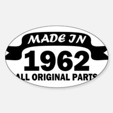 made in 1962 born Decal