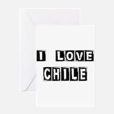 I Block Love Chile Greeting Card