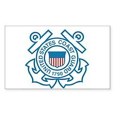 Coast Guard Rectangle Decal