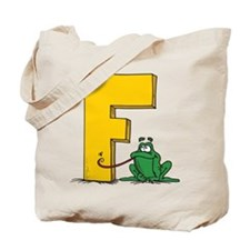 F For Frog Tote Bag