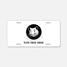 Personalized Hamster Aluminum License Plate