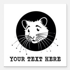 """Personalized Hamster Square Car Magnet 3"""" x 3"""""""