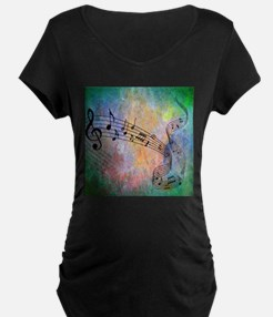 Abstract Music Maternity T-Shirt