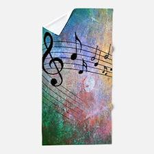 Abstract Music Beach Towel