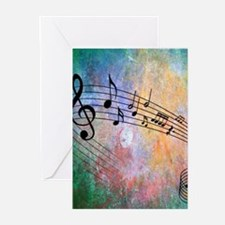 Abstract Music Greeting Cards