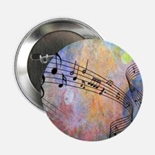 """Abstract Music 2.25"""" Button (10 pack)"""