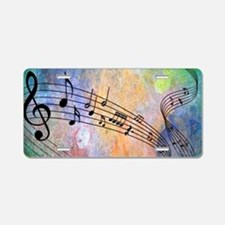 Abstract Music Aluminum License Plate