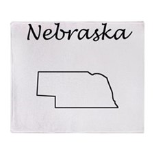 Nebraska Throw Blanket