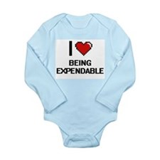 I love Being Expendable Digitial Design Body Suit