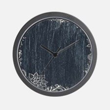 white lace black chalkboard Wall Clock