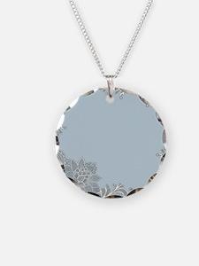 white lace pastel blue  Necklace