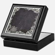 white lace black chalkboard Keepsake Box