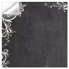 white lace black chalkboard Wall Decal