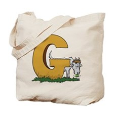 G For Goat Tote Bag