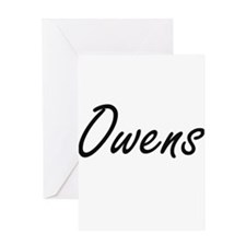 Owens surname artistic design Greeting Cards