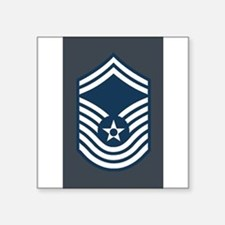 "Cute Usaf chief master sergeant Square Sticker 3"" x 3"""