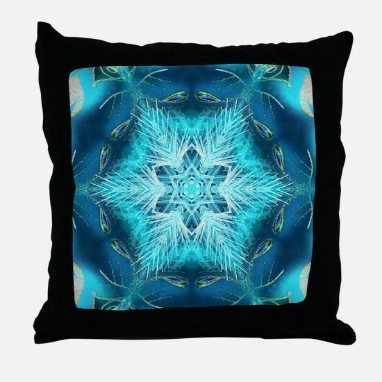 modern teal turquoise pattern Throw Pillow