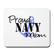 Proud Navy Mom Blue Anchor Mousepad