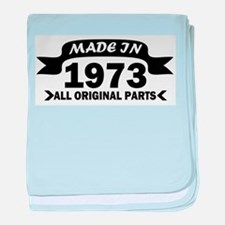 made in 1973 born baby blanket