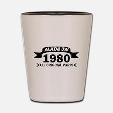 made in 1980 born Shot Glass