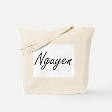 Nguyen surname artistic design Tote Bag
