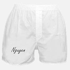Nguyen surname artistic design Boxer Shorts
