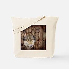 vintage Americana wild wolf  Tote Bag