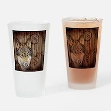 vintage Americana wild wolf  Drinking Glass