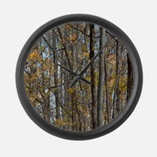 forest trees Camo Camouflage  Large Wall Clock