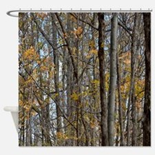 forest trees Camo Camouflage  Shower Curtain