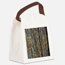 forest trees Camo Camouflage  Canvas Lunch Bag