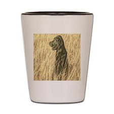 rustic country farm dog Shot Glass