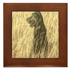 rustic country farm dog Framed Tile