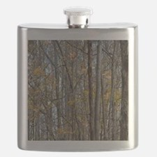 forest trees Camo Camouflage  Flask