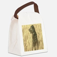rustic country farm dog Canvas Lunch Bag