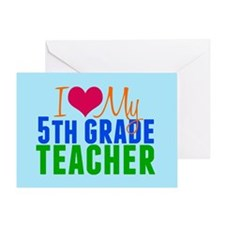 5th Grade Teacher Greeting Card