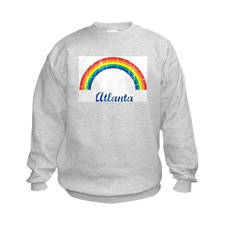 Atlanta (vintage rainbow) Kids Sweatshirt