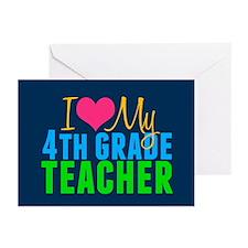 Cute I love my teacher Greeting Cards (Pk of 20)