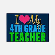 Cool 4th grade teacher Rectangle Magnet