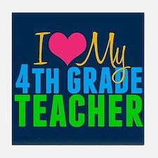 Cool 4th grade teacher Tile Coaster