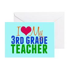 3rd Grade Teacher Greeting Card