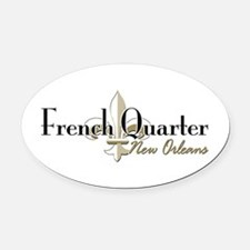 Cute French quarter Oval Car Magnet