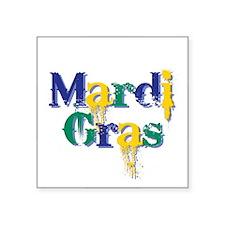 "Mardi Gras bcs Square Sticker 3"" x 3"""