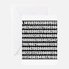Pi number Greeting Cards