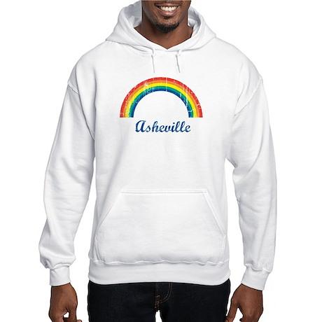 Asheville (vintage rainbow) Hooded Sweatshirt